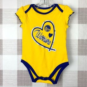 NBA Golden State Warriors Bodysuit Baby Girl 6/9 M